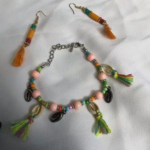 Wayan Natural Wear Bracelet & Earrings Set